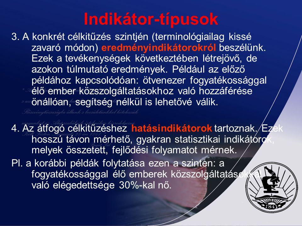 Indikátor-típusok