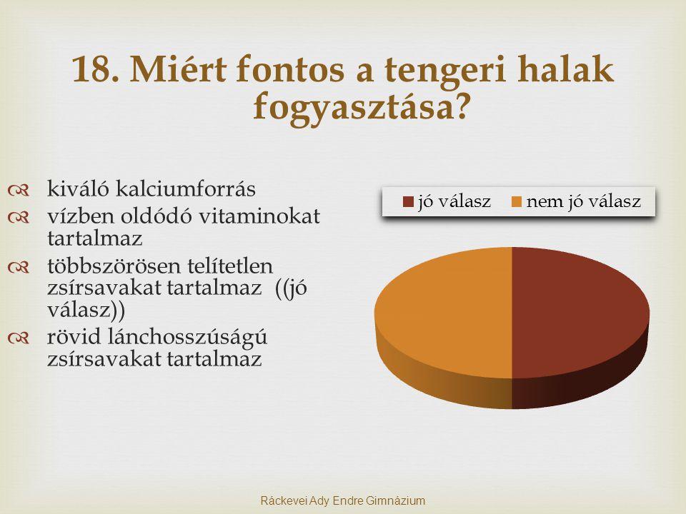 18. Miért fontos a tengeri halak fogyasztása