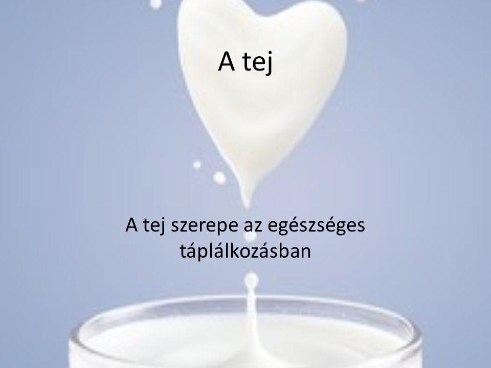 A tej szerepe az egészséges táplálkozásban