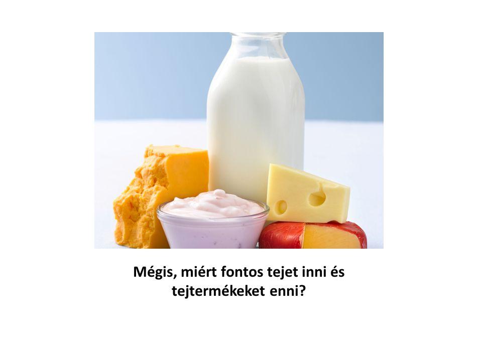 Mégis, miért fontos tejet inni és tejtermékeket enni
