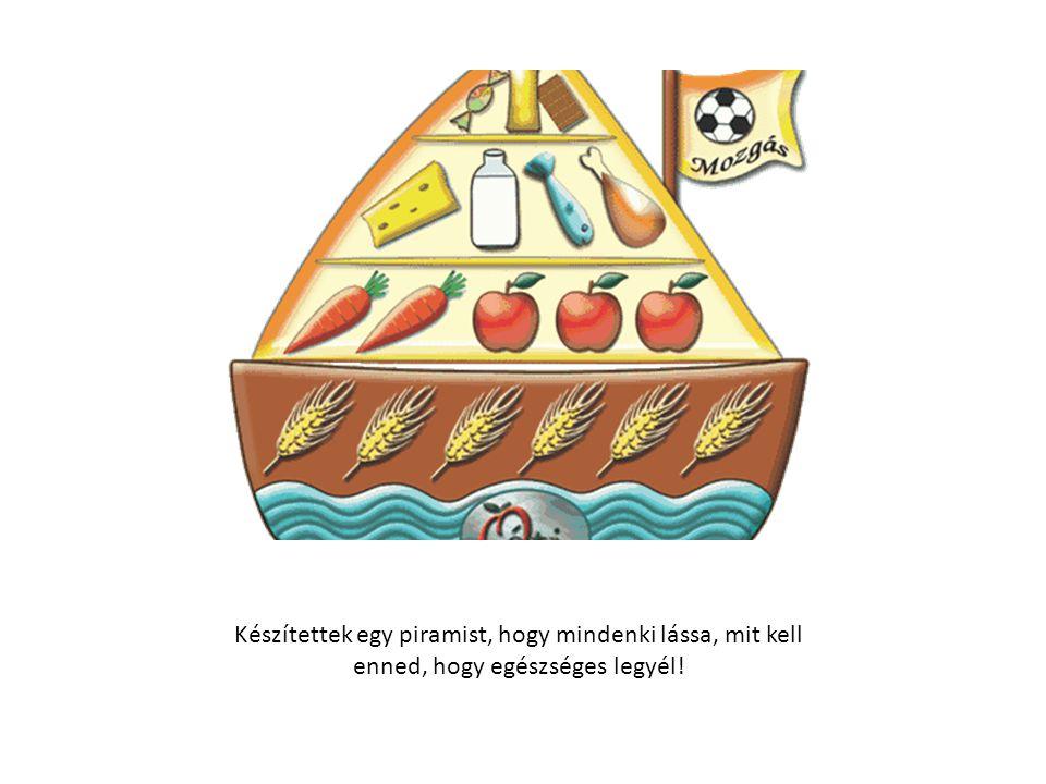 Készítettek egy piramist, hogy mindenki lássa, mit kell enned, hogy egészséges legyél!