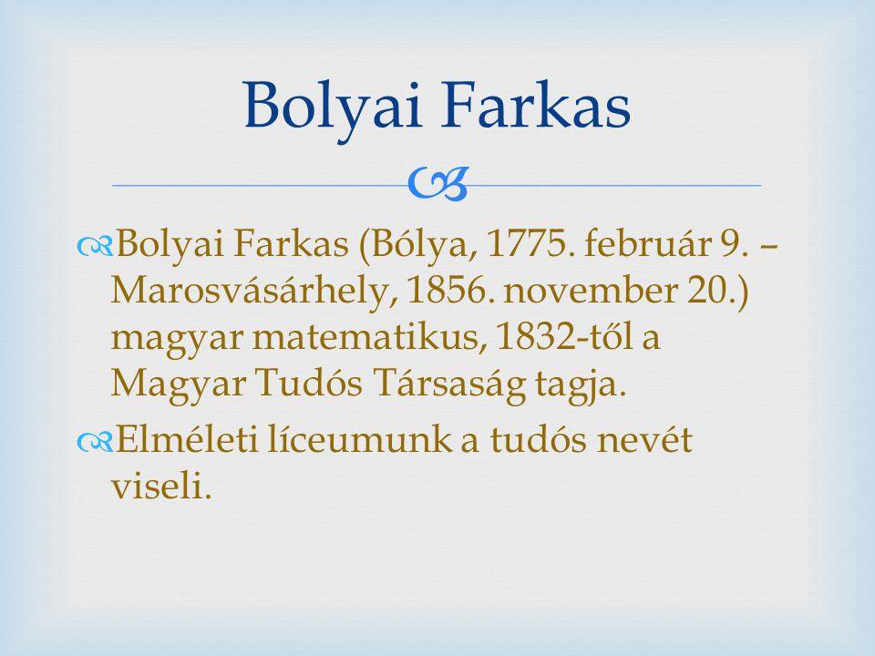 Bolyai Farkas