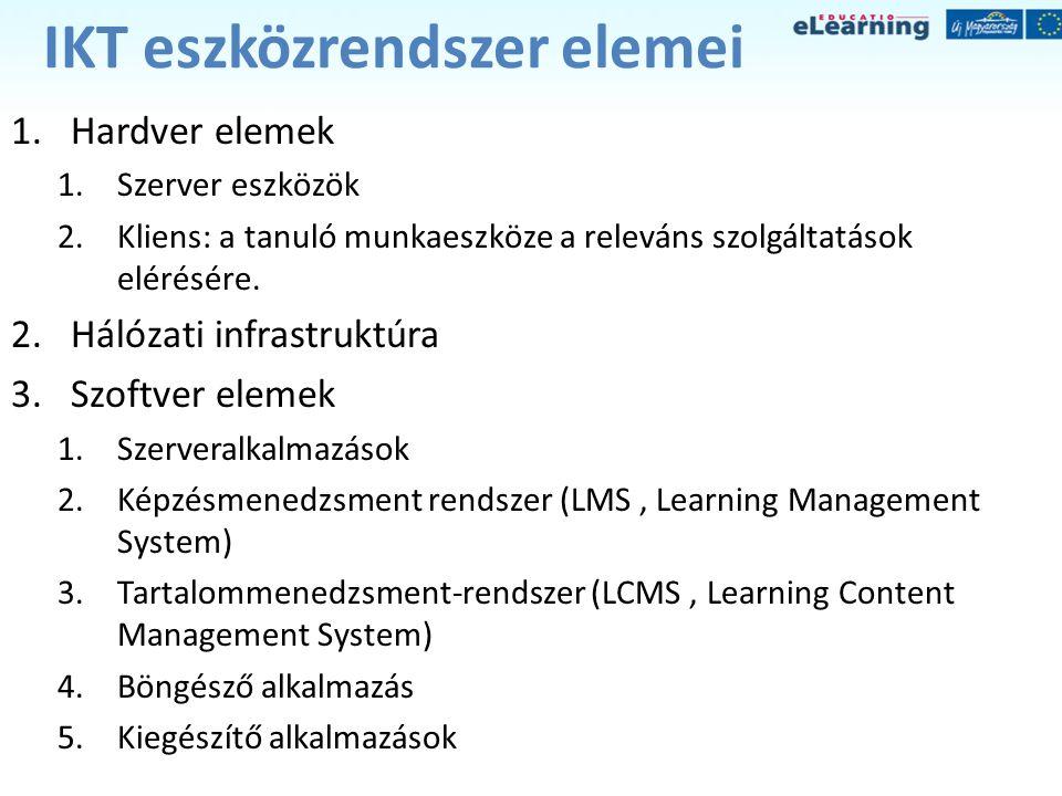 IKT eszközrendszer elemei