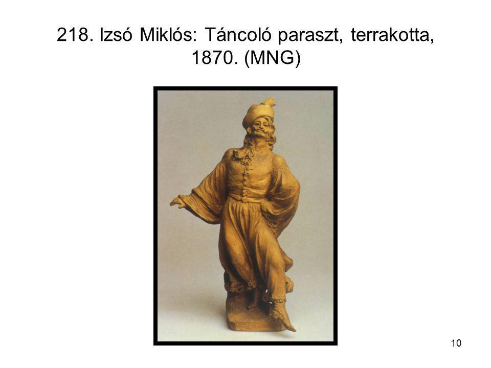 218. Izsó Miklós: Táncoló paraszt, terrakotta, 1870. (MNG)