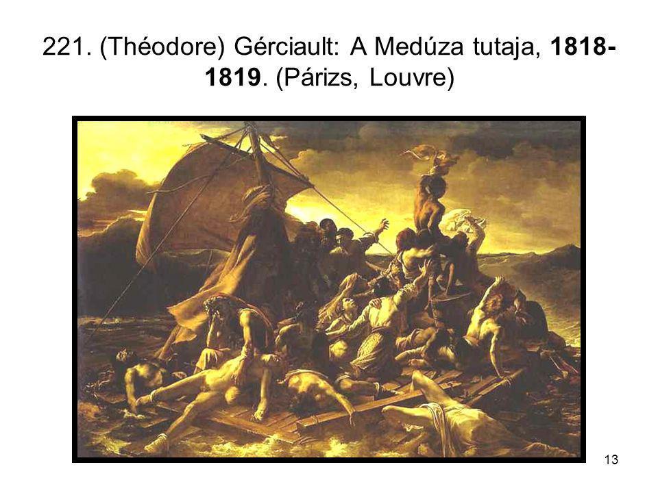 221. (Théodore) Gérciault: A Medúza tutaja, 1818-1819. (Párizs, Louvre)