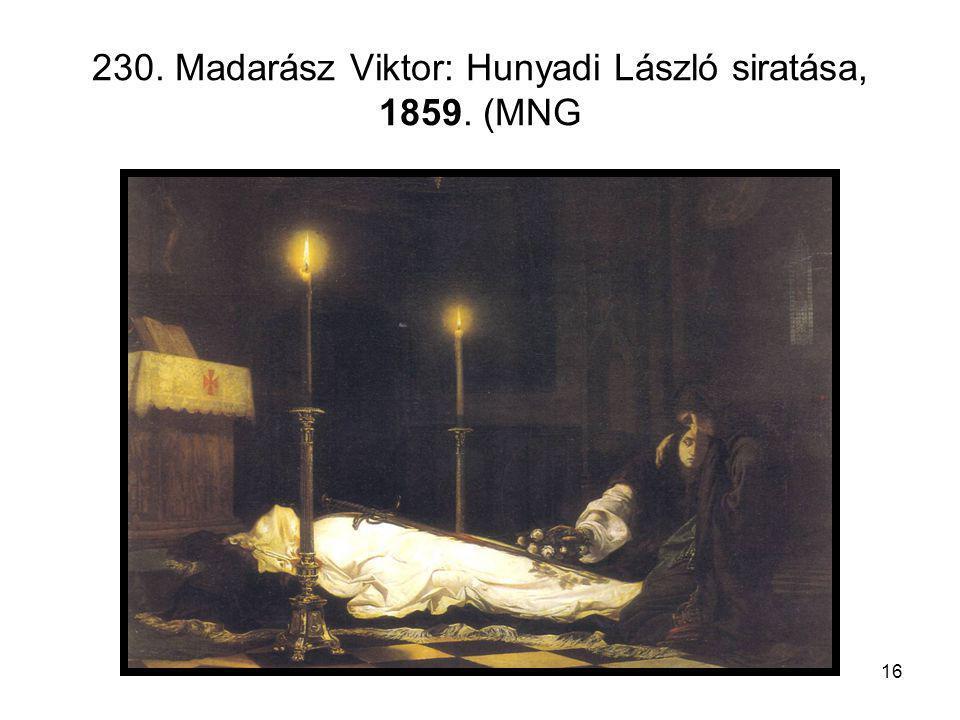 230. Madarász Viktor: Hunyadi László siratása, 1859. (MNG