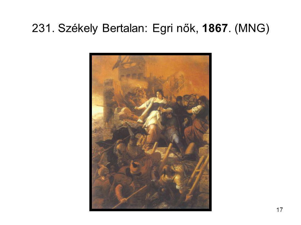 231. Székely Bertalan: Egri nők, 1867. (MNG)