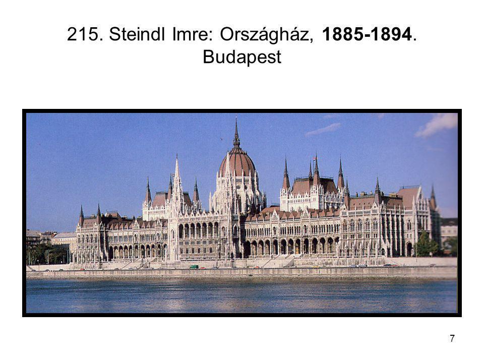 215. Steindl Imre: Országház, 1885-1894. Budapest