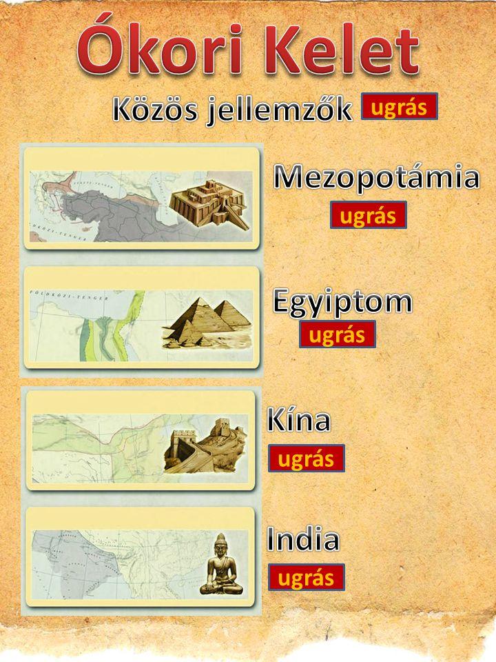 Ókori Kelet Közös jellemzők Mezopotámia Egyiptom Kína India ugrás