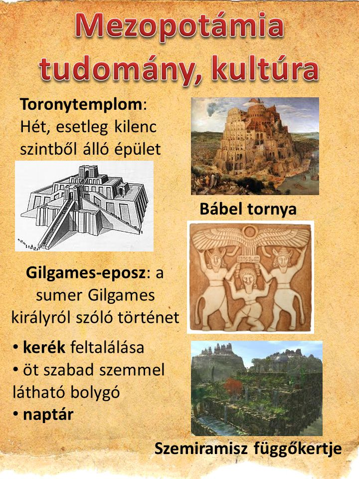 Mezopotámia tudomány, kultúra