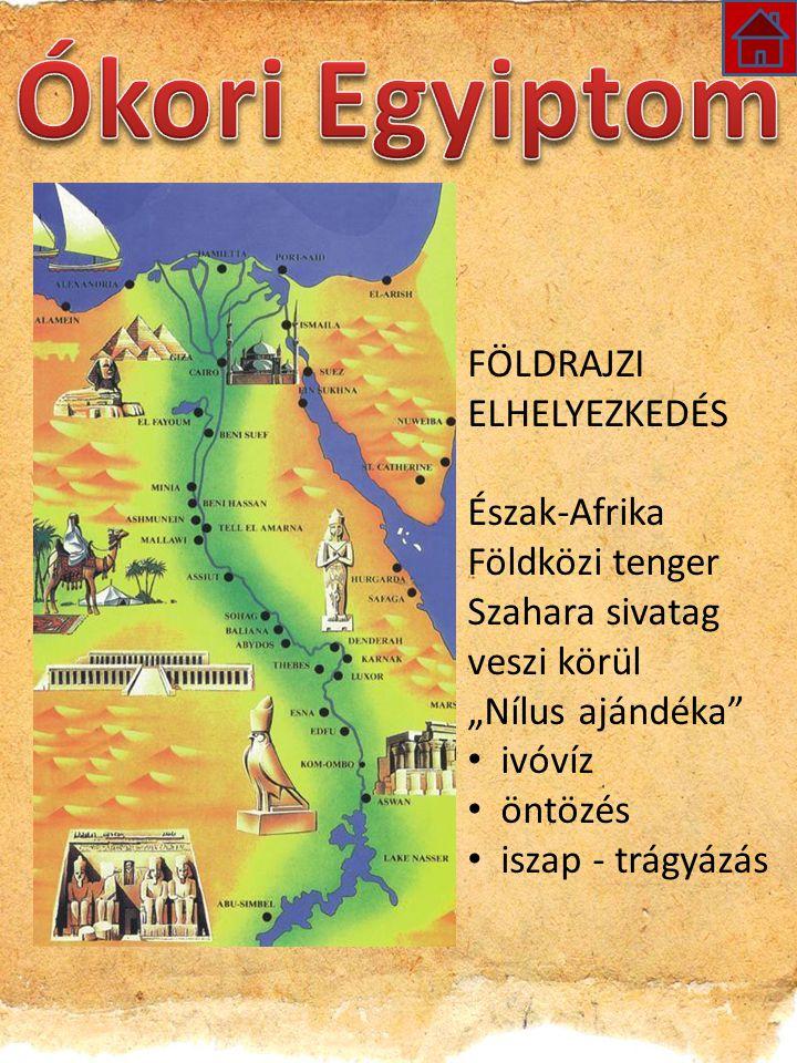 Ókori Egyiptom FÖLDRAJZI ELHELYEZKEDÉS Észak-Afrika Földközi tenger