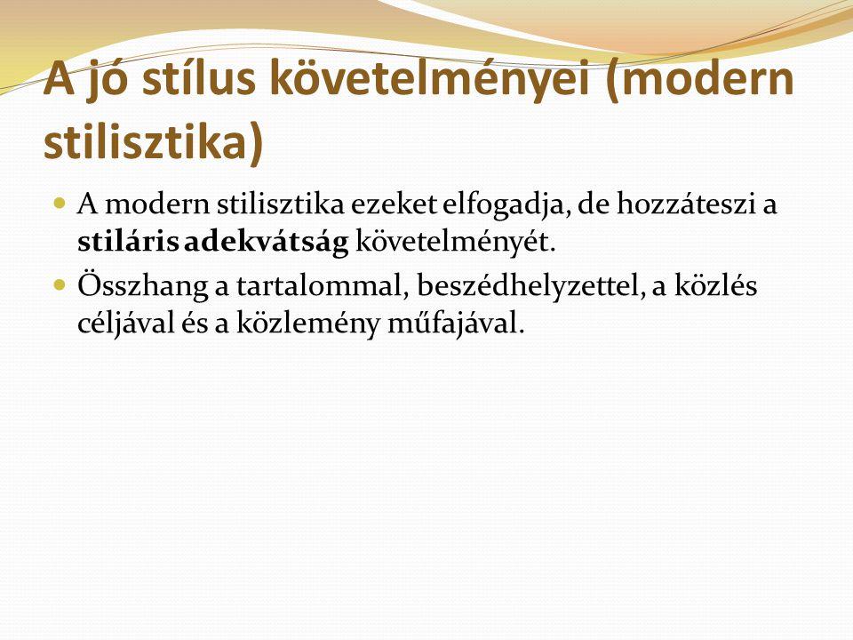 A jó stílus követelményei (modern stilisztika)