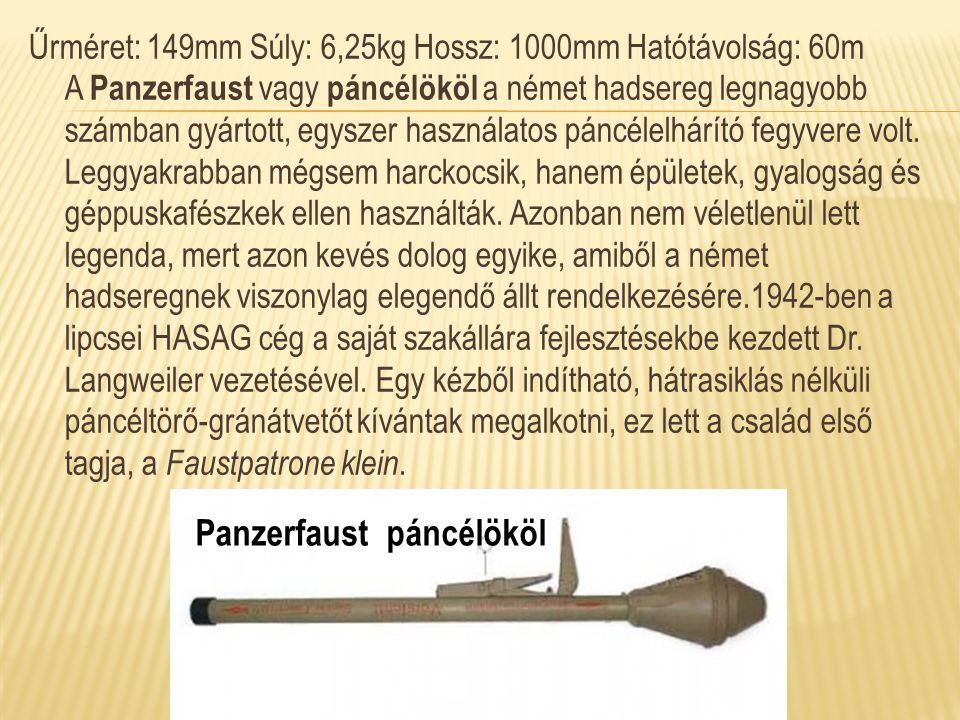 Panzerfaust páncélököl