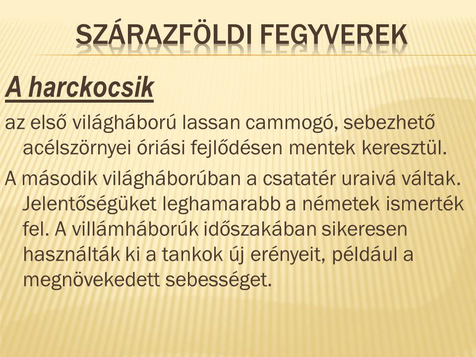 SZÁRAZFÖLDI FEGYVEREK