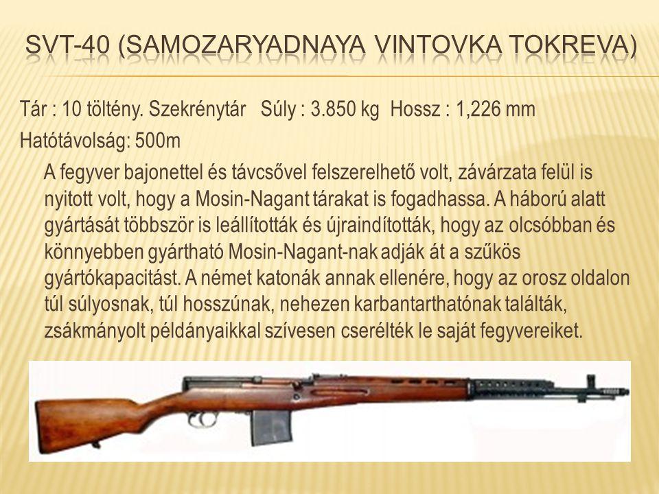 Svt-40 (Samozaryadnaya Vintovka Tokreva)