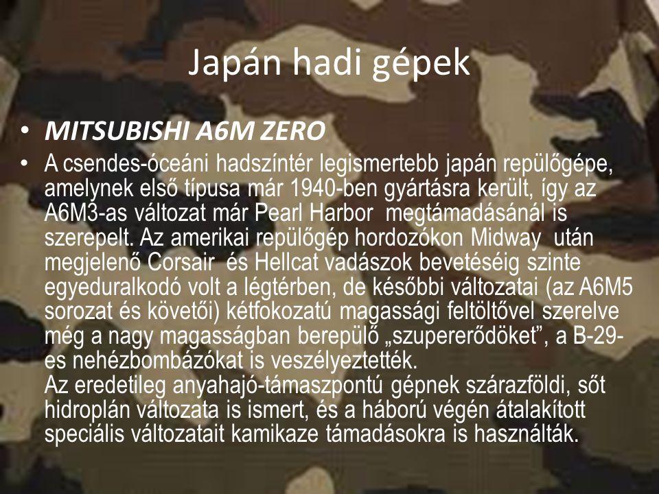 Japán hadi gépek MITSUBISHI A6M ZERO