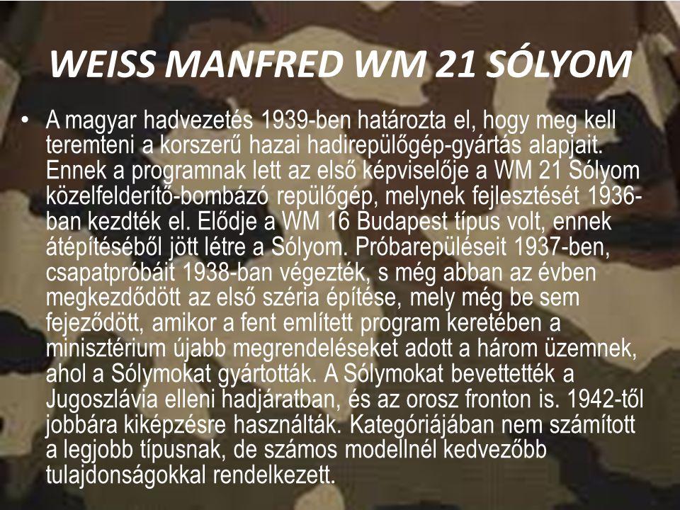 WEISS MANFRED WM 21 SÓLYOM