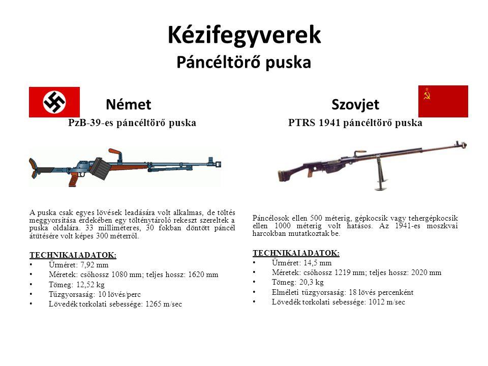 Kézifegyverek Páncéltörő puska