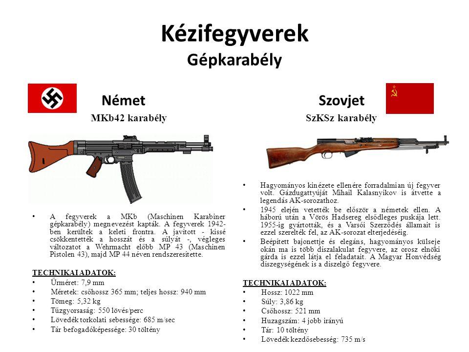 Kézifegyverek Gépkarabély