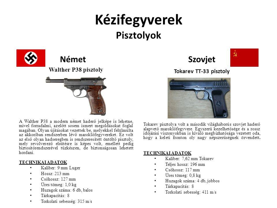 Kézifegyverek Pisztolyok