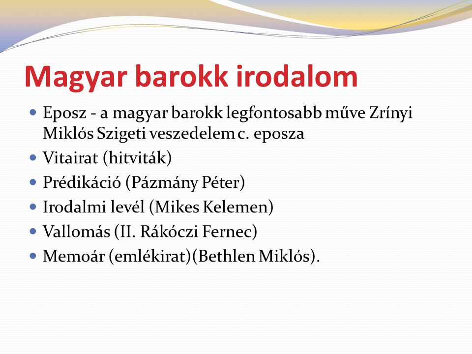 Magyar barokk irodalom