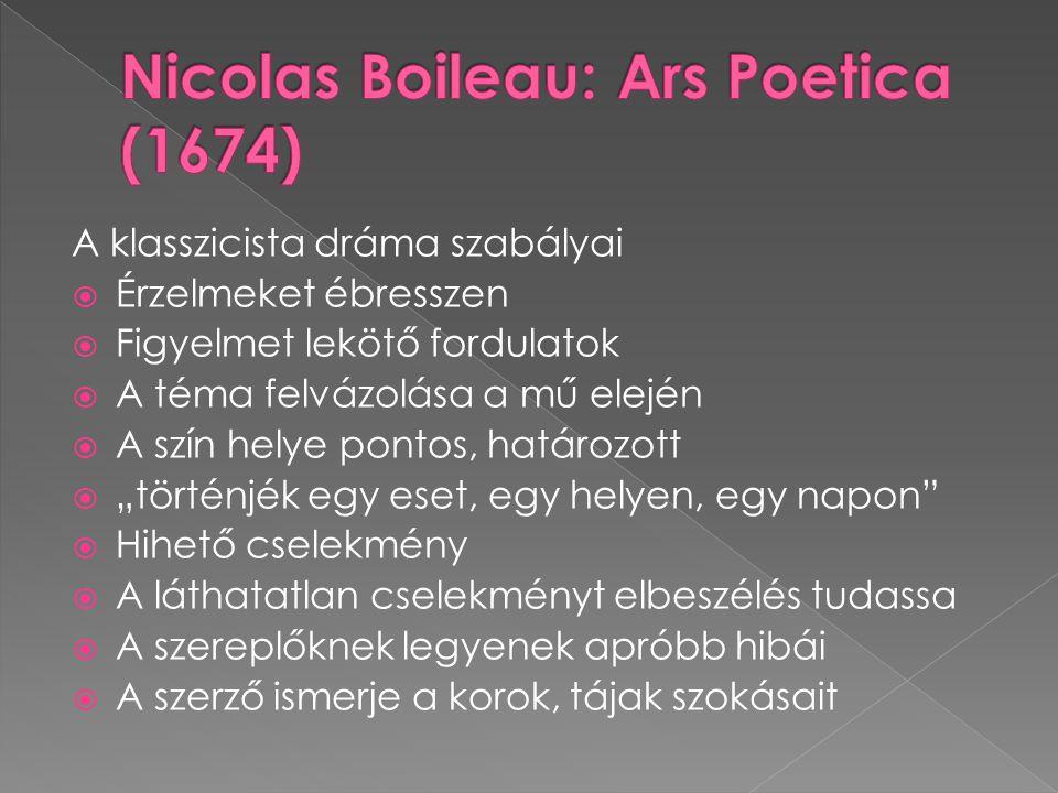 Nicolas Boileau: Ars Poetica (1674)