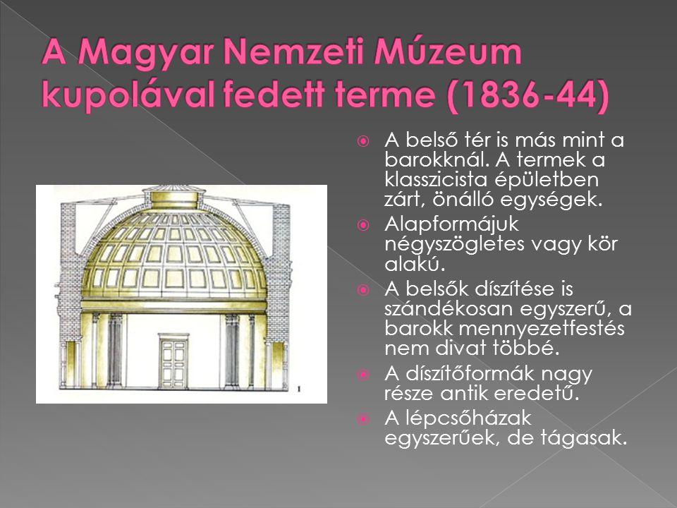 A Magyar Nemzeti Múzeum kupolával fedett terme (1836-44)