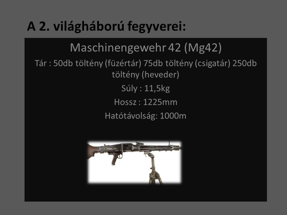A 2. világháború fegyverei: