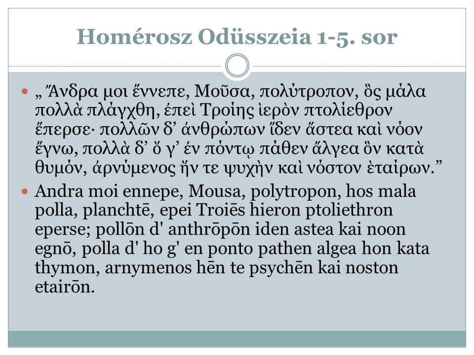 Homérosz Odüsszeia 1-5. sor