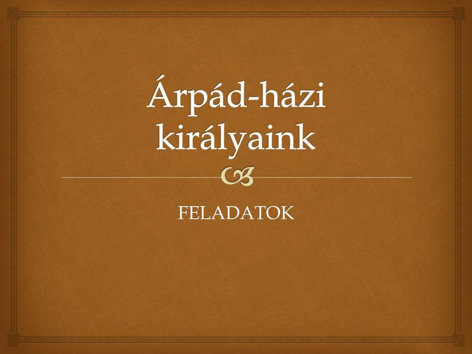 Árpád-házi királyaink