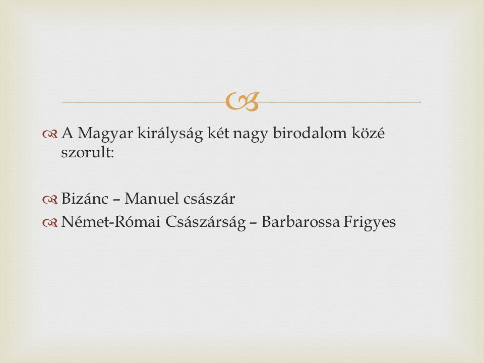A Magyar királyság két nagy birodalom közé szorult: