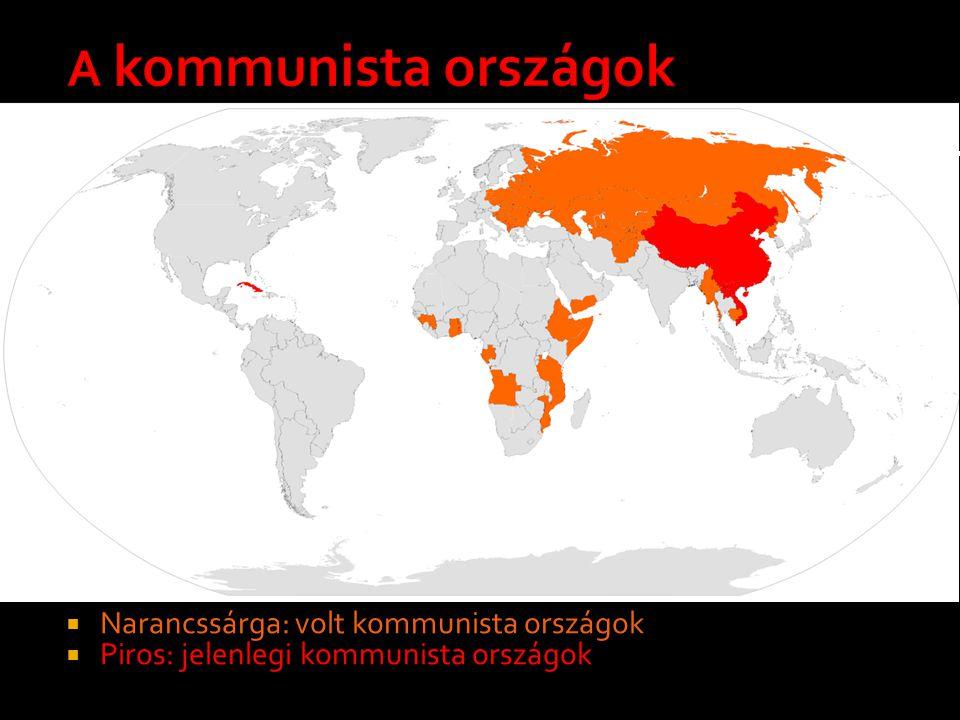 A kommunista országok Narancssárga: volt kommunista országok
