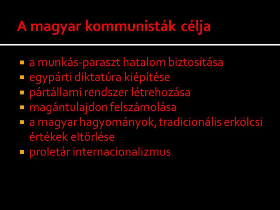 A magyar kommunisták célja