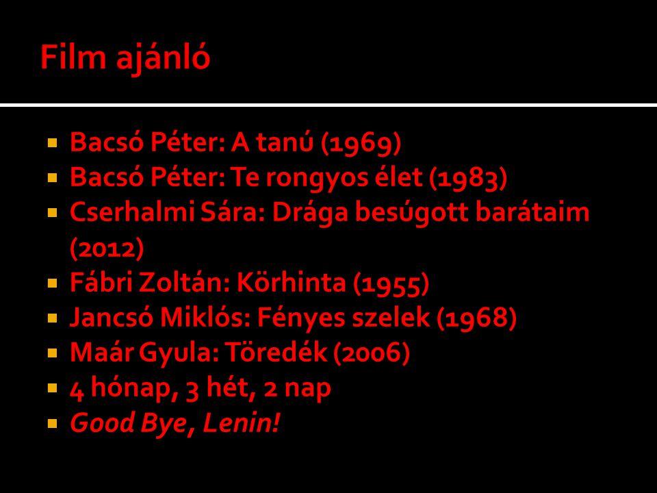 Film ajánló Bacsó Péter: A tanú (1969)