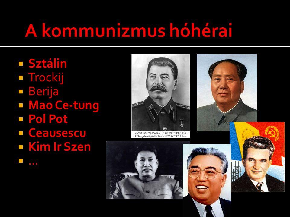 A kommunizmus hóhérai Sztálin Trockij Berija Mao Ce-tung Pol Pot