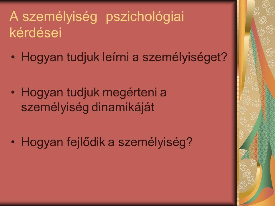 A személyiség pszichológiai kérdései
