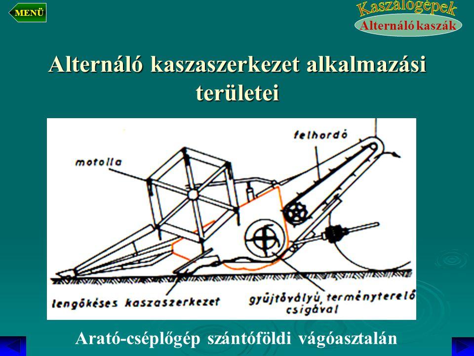 Alternáló kaszaszerkezet alkalmazási területei