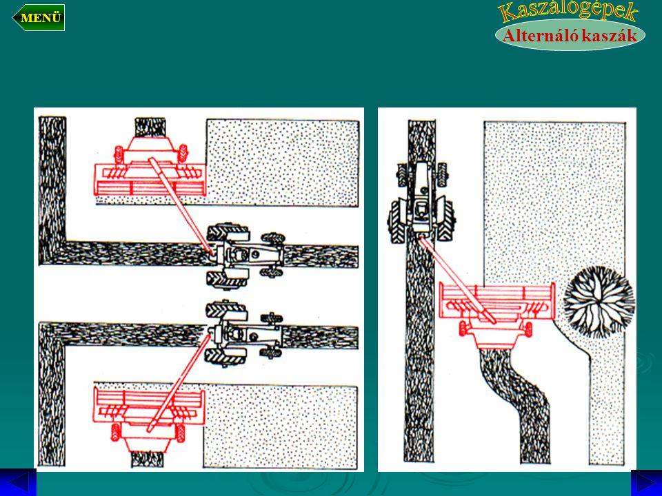 MENÜ Kaszálógépek Alternáló kaszák
