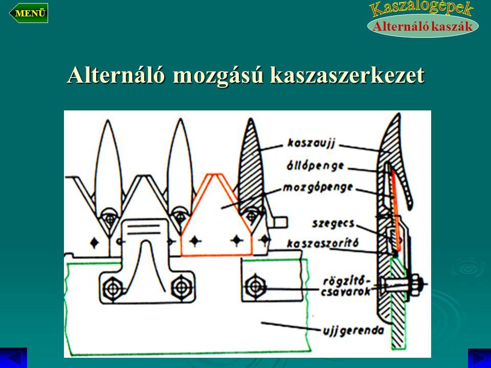Alternáló mozgású kaszaszerkezet