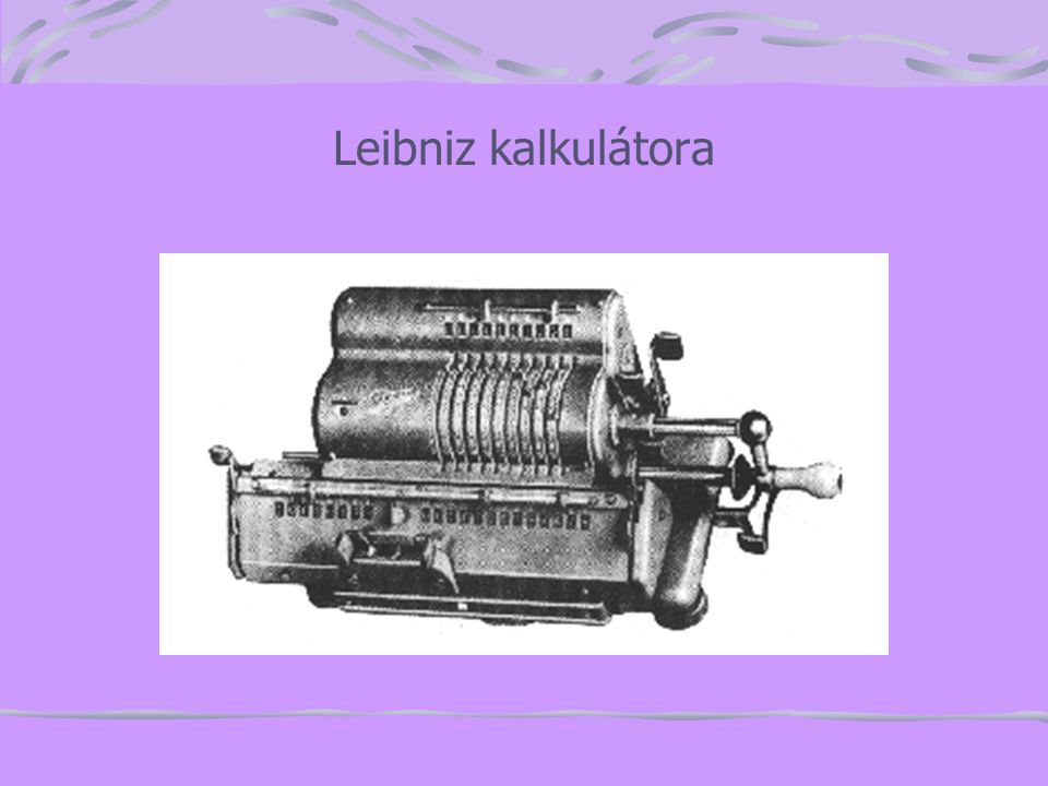 Leibniz kalkulátora
