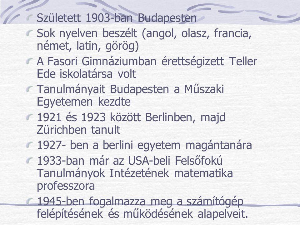 Született 1903-ban Budapesten