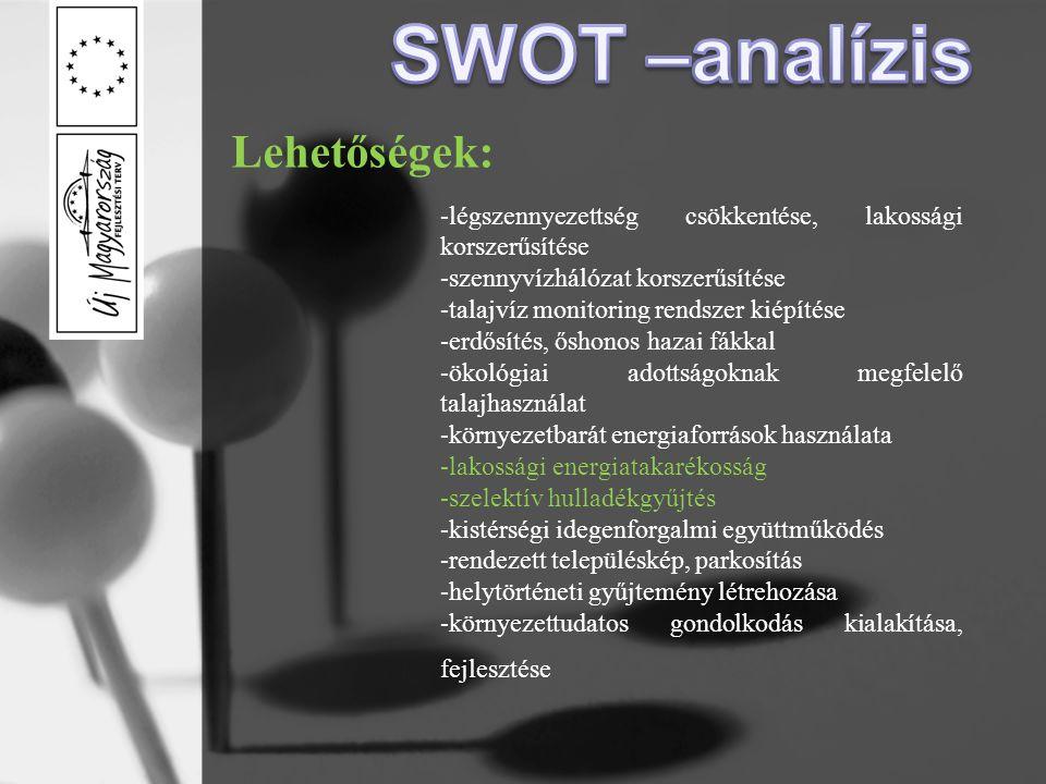 SWOT –analízis Lehetőségek: