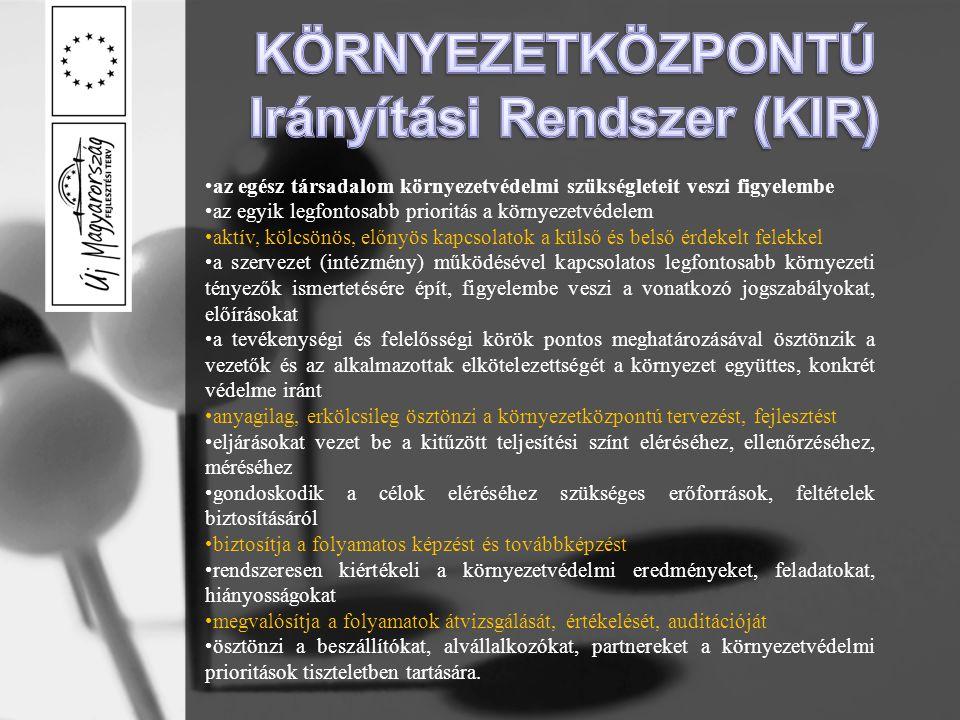 KÖRNYEZETKÖZPONTÚ Irányítási Rendszer (KIR)