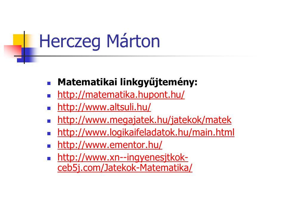 Herczeg Márton Matematikai linkgyűjtemény: