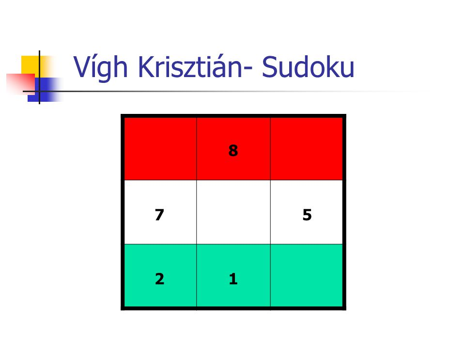 Vígh Krisztián- Sudoku