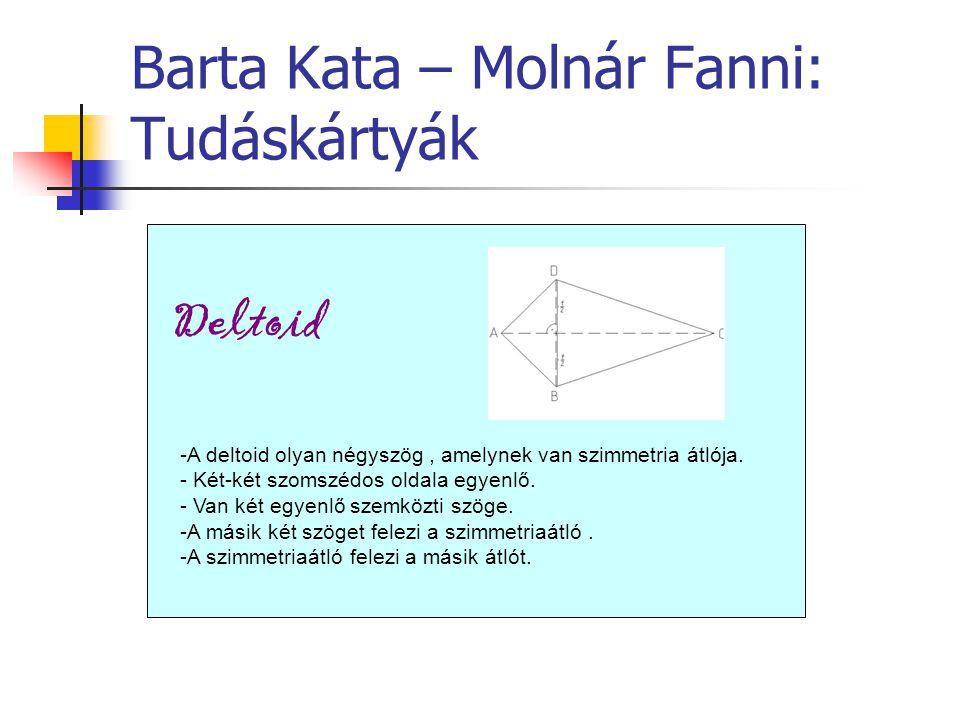Barta Kata – Molnár Fanni: Tudáskártyák