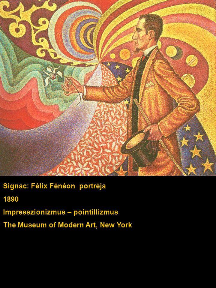 Signac: Félix Fénéon portréja