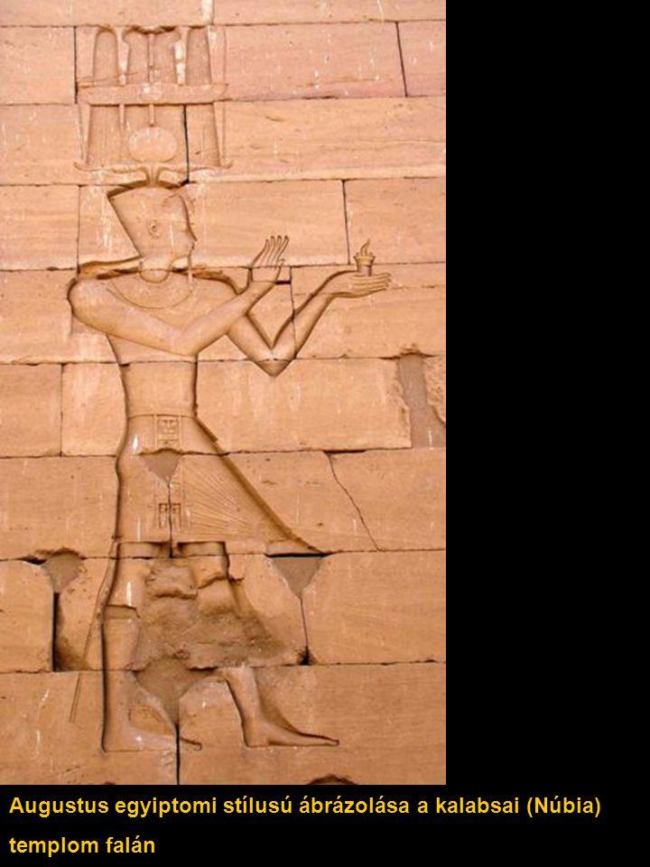 Augustus egyiptomi stílusú ábrázolása a kalabsai (Núbia)