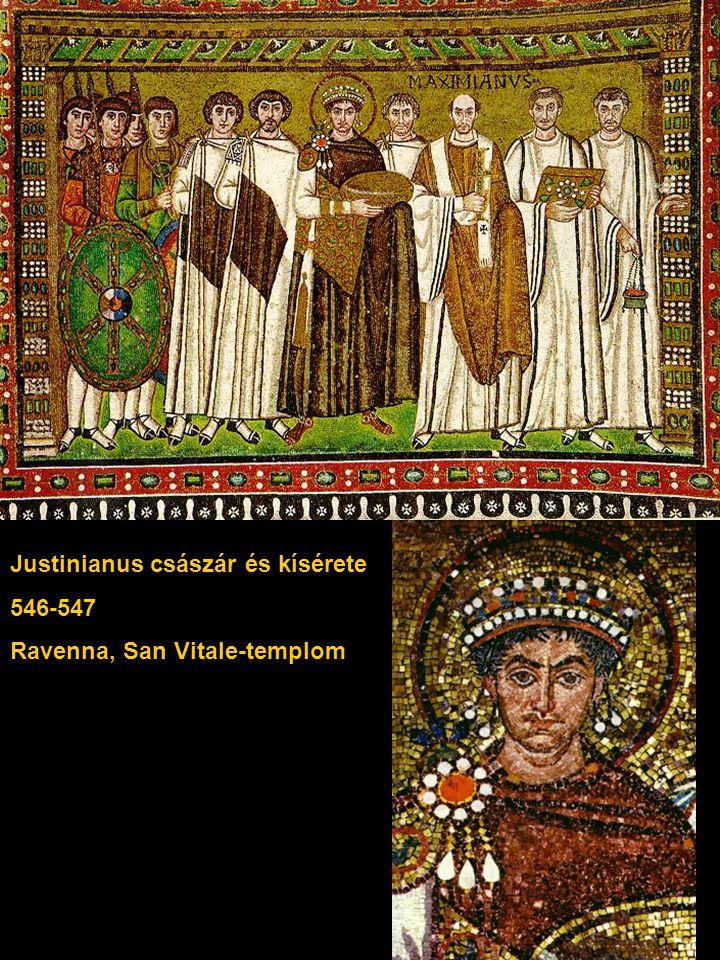 Justinianus császár és kísérete