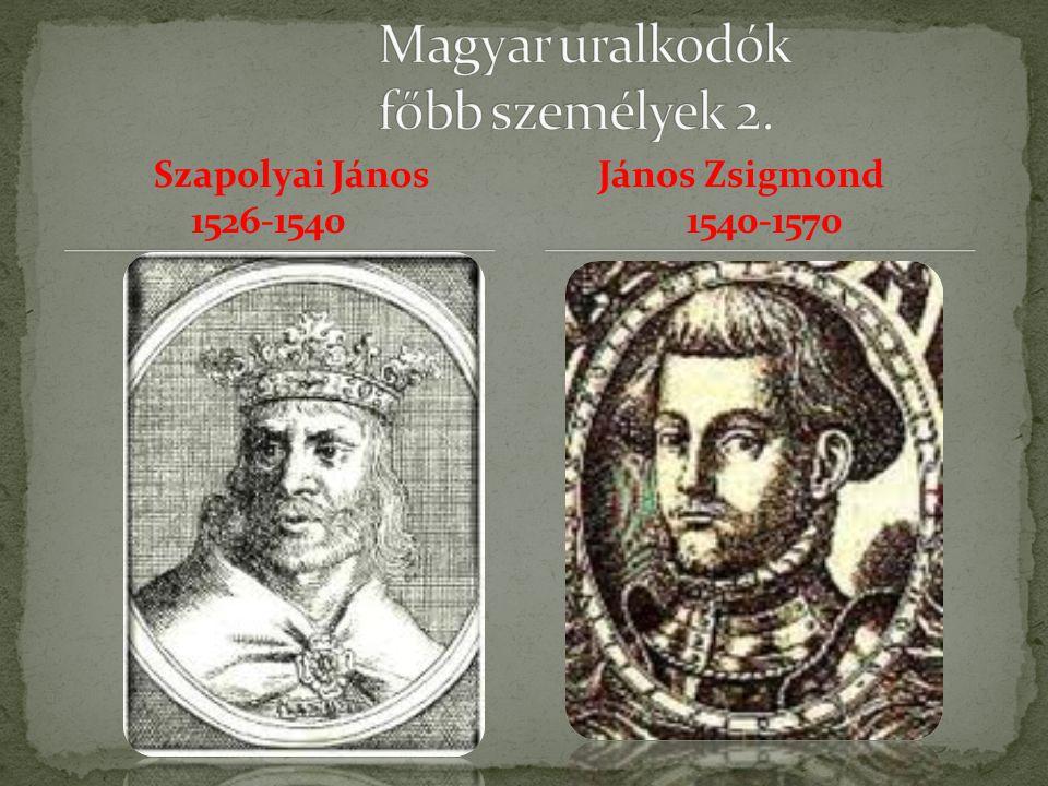 Magyar uralkodók főbb személyek 2.